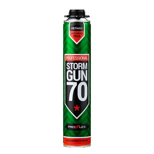 Пена монтажная PROFFLEX STORM GUN 70 лето